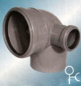 Отвод полипропилен 110x50x90 правый